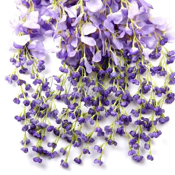 1pc Artificial Silk Wisteria Fake Flower Vine Wedding