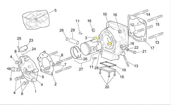 Spaccato Motore Yamaha Yz 125