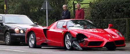 Ferrari Enzo accidente