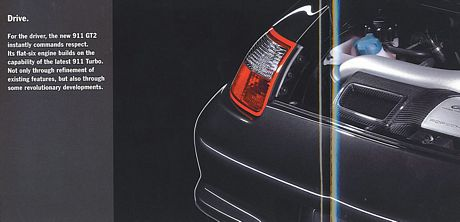 Folleto del Porsche 911 GT2, revelado