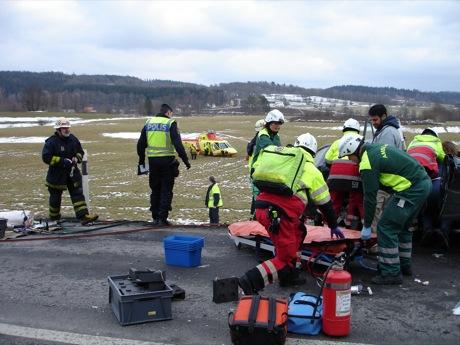 Volvo publica imágenes de un accidente real