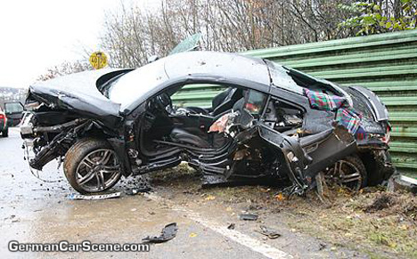 accidente de Audi R8