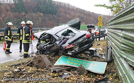 Terrible accidente de Audi R8