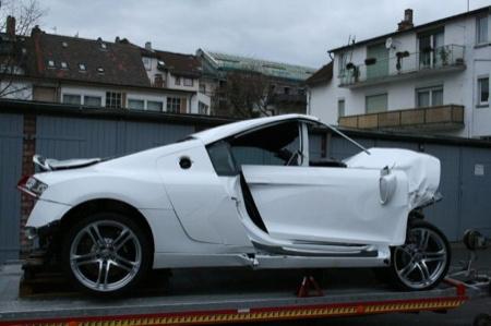 Audi R8 accidente
