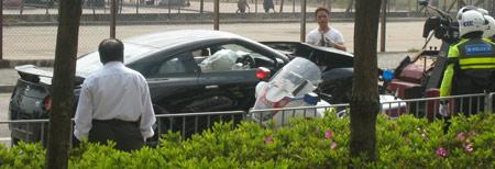 Nissan GT-R accidente