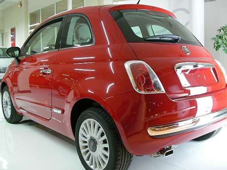 Fiat 500 en rojo