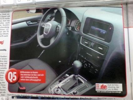 Supuestas fotos del Audi Q5 en Autobild
