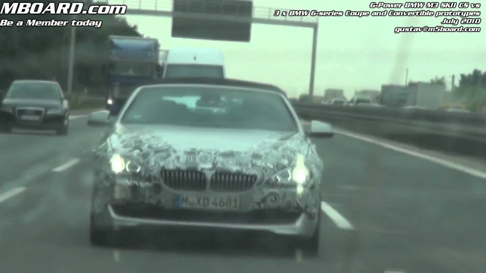 New BMW 6-series prototype Coupe and Convertible F13 chased by G-Power BMW M3 SKII CS DKG | DCT