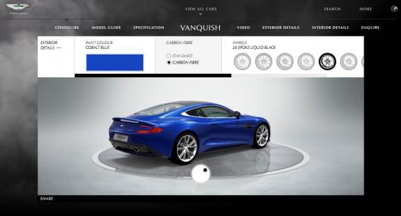 Aston Martin lanza el configurado online del nuevo Vanquish