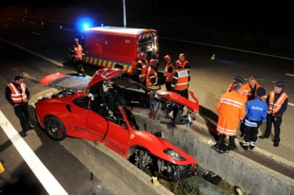 Accidente de un Ferrari F430 en Spa Francorchamps