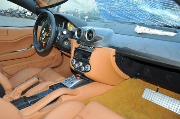 A la venta el Ferrari 599 GTB destrozado de Cristiano Ronaldo