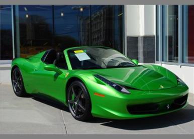 Ferrari 458 Spider Verde-Kers-Lucido a la venta