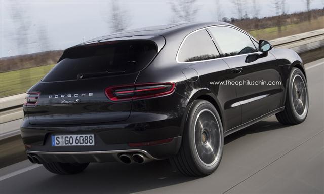 Así sería el Porsche Macan de 3 puertas 1