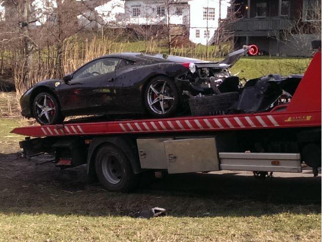 Destroza un Ferrari 458 Italia a sus 18 años cuando lo probaba 3