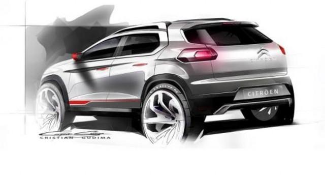 Primeros bocetos del nuevo Crossover de Citroën 2
