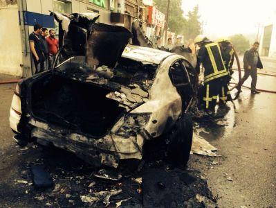 Arde un Maserati Quattroporte GTS en Azerbaijan