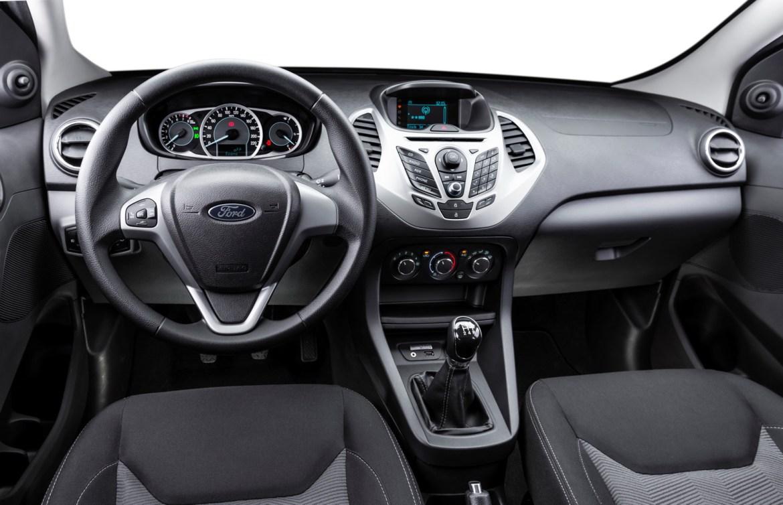 Interior of the 2015 Ka for Brazilian markets. Interior do novo Ka 2015.