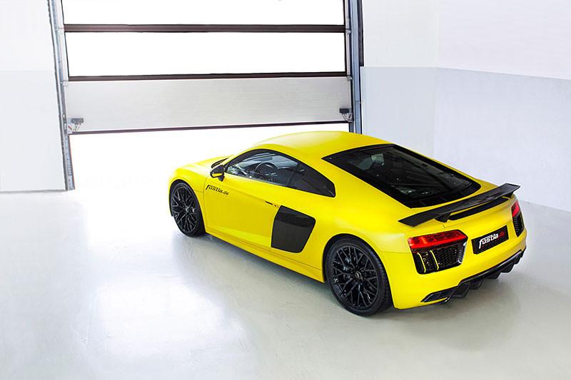 ¿Qué te parece éste Audi R8 V10 Plus vinilado en color amarillo? 2