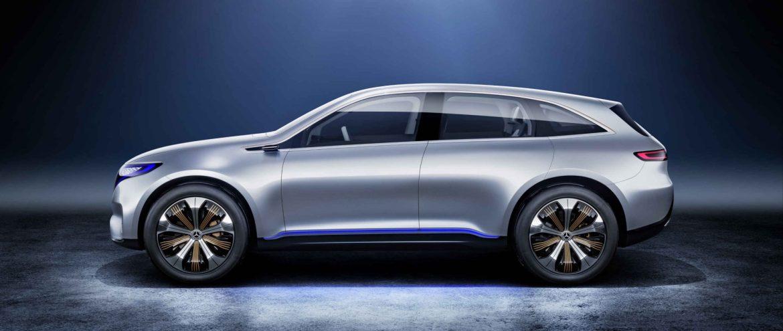 Más cerca del Mercedes EQ C: el primer crossover eléctrico de la marca