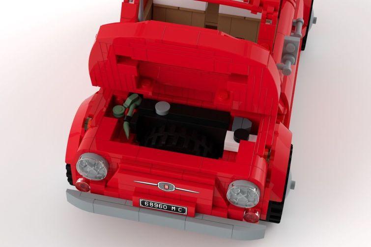 Muy pronto podremos ver el FIAT 500 clásico para montar con piezas de LEGO
