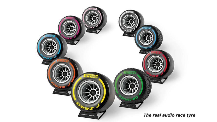 Esta rueda de F1 es en realidad un altavoz Bluetooth de Pirelli Design