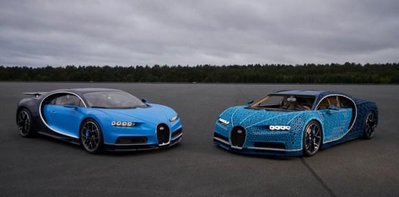 Hay un Bugatti Chiron fabricado de LEGO a tamaño real: ¡Con más de un millón de piezas!