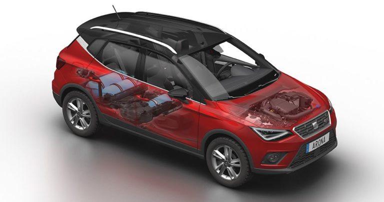 El SEAT Arona TGI nos ofrece 90 CV capaces de funcionar con gasolina y gas natural