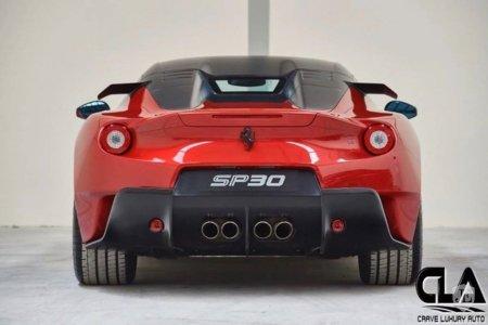 El único Ferrari SP30 existente sale a la venta... y sólo tiene 103 km