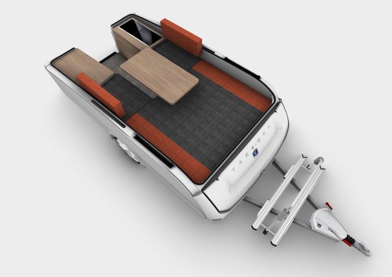 Takeoff X10T: Así de original es esta caravana plegable