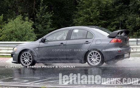 Mitsubishi Lancer Evolution X, fotos espías definitivas