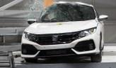 Honda Civic pole crash