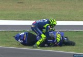 Valentino Rossi a terra
