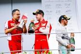 Vettel esulta dopo una vittoria