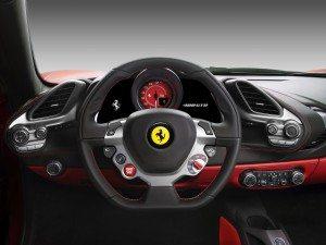 Ferrari 488 GTB-steering