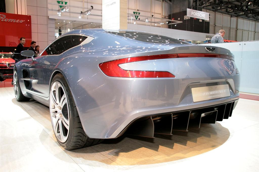 aston martin one 77 rear Aston Martin One 77 Officially Unveiled