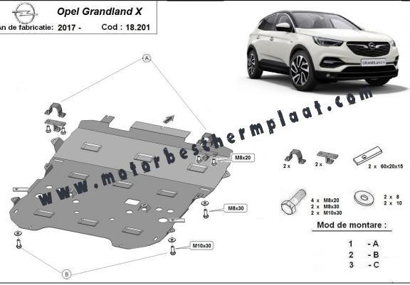 Opel Motor Beschermplaat