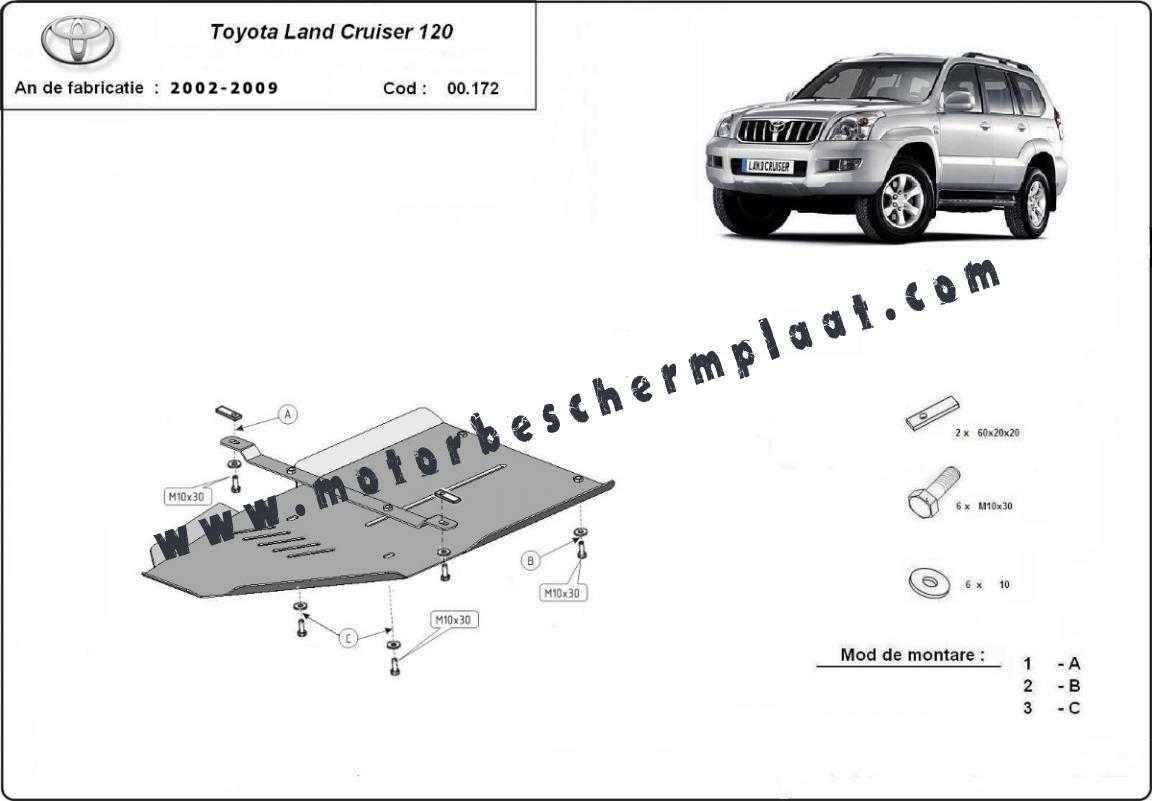 Versnellingsbak Beschermplaat voor Toyota Land Cruiser