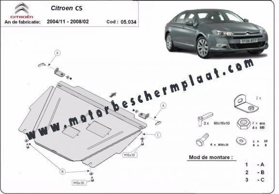 Motor en Versnellingsbak Beschermplaat voor Citroen C5
