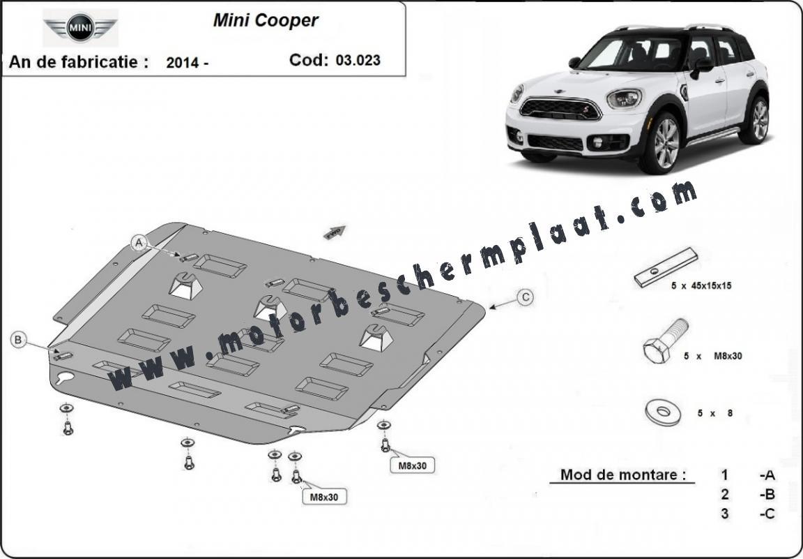 Motor En Versnellingsbak Beschermplaat Voor Mini Cooper