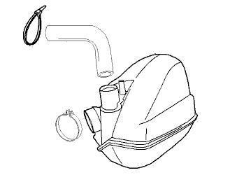 Luftfilter / Ansauggeräuschdämpfer kpl. PEUGEOT Jet-Force