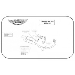 System Of Exhaust Complete Marving Yamaha XV 535/S VIRAGO