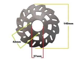 002010 DISCO FRENO per minicross 49 cc ruota 10
