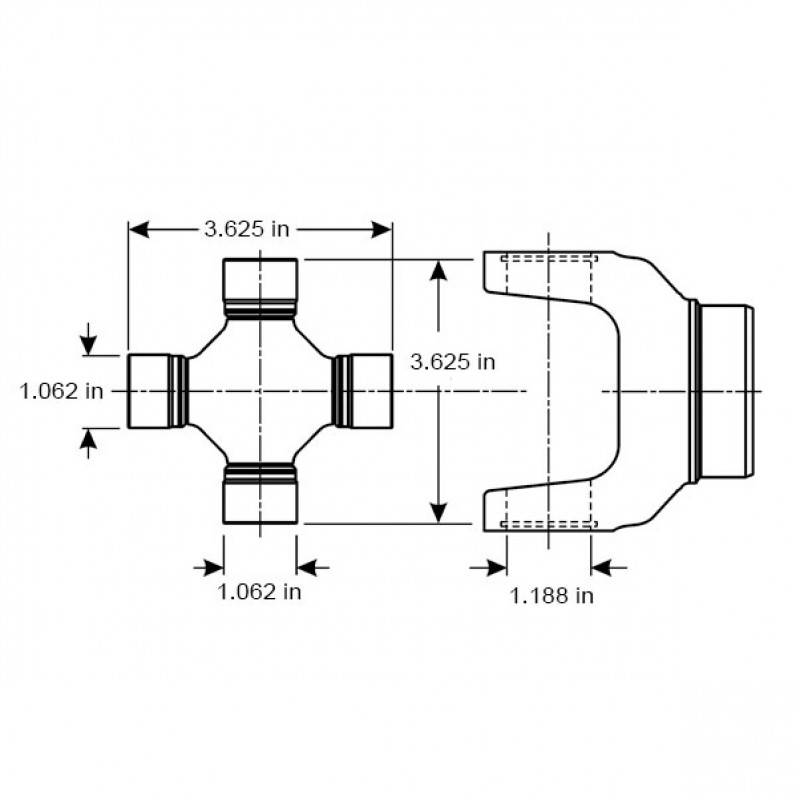 Rear Driveshaft, 69-77 Blazer