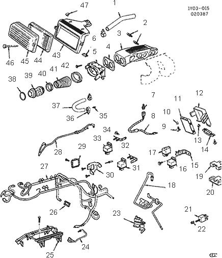 Corvette EGR Valve Vacuum Harness, 1987