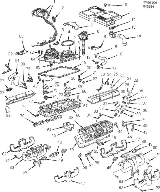 Corvette Spark Plug Wire Support to Valve Cover, Left, 1984
