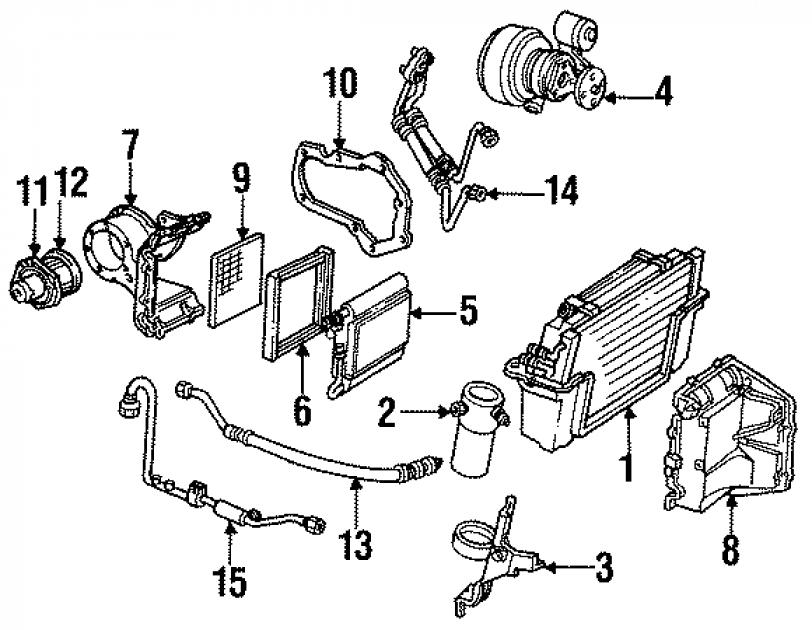 Corvette Evaporator Core Seal, 1984-1996