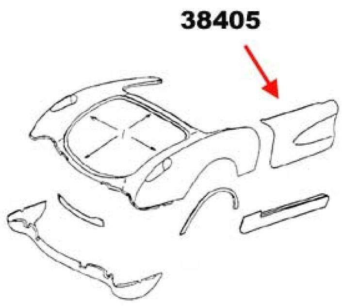 Corvette Door Skin, Left, Outer, 1956-1960
