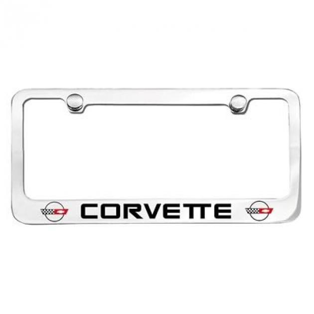 Corvette Elite License Frame, 84-96 Corvette Word with