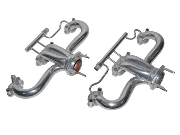 corvette headers exhaust manifold modified ceramic coated with air late 1986 1988