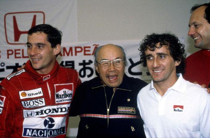 Senna, Honda, Prost and Dennis
